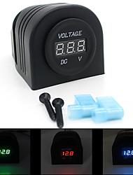 Scolour motor tahan air dipimpin Digital voltmeter, Mengukur tegangan kisaran 6 - 33 V pengiriman gratis & grosir