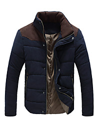 Men's Stand Coats & Jackets , Cotton Long Sleeve Casual Button Winter YYS
