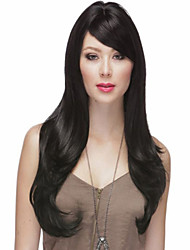 Beautiful long black Straight Curly hair wig Women's synthetic wigs