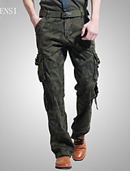 Men's outdoor overalls pocket straight camouflage pants pants baggy pants male Korean tide