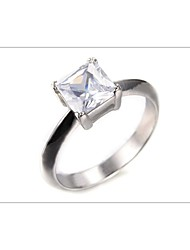 Senior cubic zirconia engagement fashion jewelry rings  personalized stainless crystals gift steel