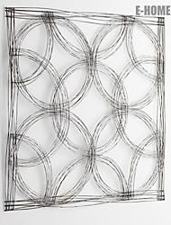 e-FOYER mur d'art de mur en métal décor, argent motif abstrait mur décor un pcs