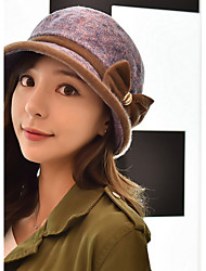 Women Fashion Bow Woolen Bow Cap