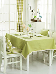 Green Solid Lacy Design  Jacquard  Tablecloths Fabric Tea Tablecloth