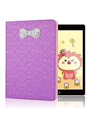 vente chaude strass étincelants bowknot enveloppe de peau Flip pour iPad 2/3/4 (couleurs assorties)