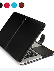 "ASLING Case for Macbook Air 13.3"" Business Solid Color PU Leather Material Business Notebook PU Leather"