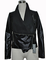 Women's Coats & Jackets , Vintage / Casual / Party Pan Collar Long Sleeve Plus Size PeiNi