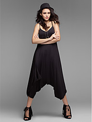 Women's Sexy Casual V Neck Backless Strap Harem Jumpsuits