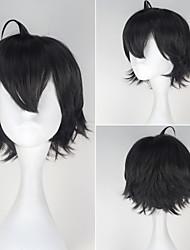 Hikigaya Hachiman Short Straight Dark Grey Men's Anime Cosplay Full Wig