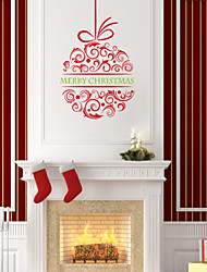 Wall Stickers Wall Decals Style Christmas Flower PVC Wall Stickers