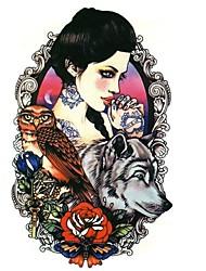 1-Séries animales / Séries de fleur / Séries de totem / Autres-Noir-Motif-12cm(W)*19cm(L)-Tatouages Autocollants-Brand New-Homme / Femme