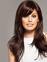 "High Quality Human Virgin Remy Hair 1""Monofilament Top Long Straight Capless Wigs"