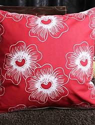 Algodón Relleno de Cojín , Floral / Con Texturas Moderno/Contemporáneo