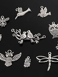 beadia prata antiga pingentes de metal encanto libélula borboleta abelha pássaro&coruja pingente jóias diy