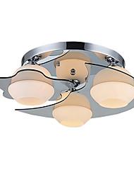 Umei ™ luz de techo moderna ras de montaje 3 luces E26 E27 / dormitorio contemporáneo / pasillo de metal