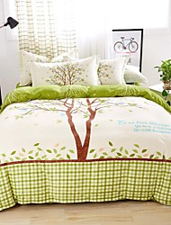 Mingjie® Bedding Sets 4pcs Queen Size adn King Size Boys and Girls Korean Love Trees Green Bed Linen China Wholesale