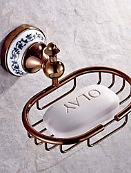 Neoclassical Rose Gold Wall Mounted Soap Dishes