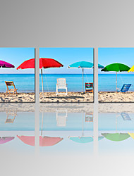 VISUAL STAR®Colorful Beach Scenery Canvas Prints Wall Art - Seascape Picture Print on Canvas Ready to Hang