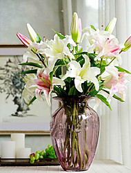 Seda / Plástico Lírios Flores artificiais