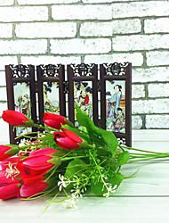 Poliéster Tulipas Flores artificiais