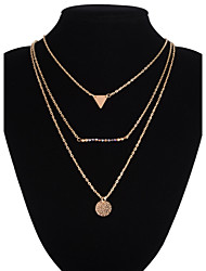 Women's Pendant Necklaces Layered Necklaces Alloy Silver Golden Jewelry Wedding Party Daily Casual 1pc