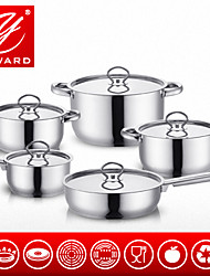 YAWARD 10Pieces Cookware Set With Stainless Steel Lib