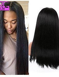 Malaysian Virgin Human Hair Hot Selling Yaki Straight Glueless Full Lace Wig With Baby Hair