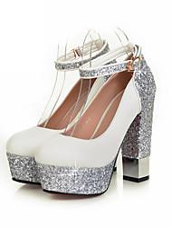 Черный / Белый - Женская обувь - Свадьба / Для праздника - Лакированная кожа / Материал на заказ клиента - На толстом каблуке -На