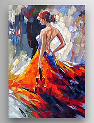 Ручная роспись Известные картины / Абстрактные портретыModern 1 панель Холст Hang-роспись маслом For Украшение дома