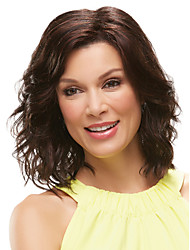 Capless Mix Color Medium Length High Quality Natural curly Hair Synthetic Wig