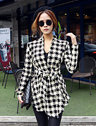 Women's Plaid  Coat (cotton)