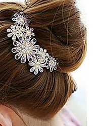Women's Diamond Flower Hair Stick Comb Bob (10*8.5CM)
