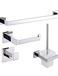 Bathroom Accessory Set , Contemporary Mirror Polished Wall Mounted