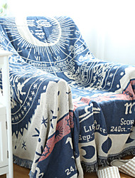 Couverture - 180*130 - en 100% Coton - Bleu