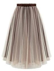 Women's   Casual  Cute Beach Skirt (mesh)