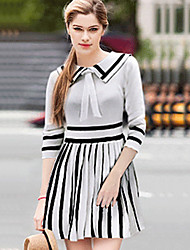 Women's Striped   Dres(cotton)
