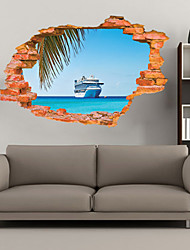 3D Wall Stickers Wall Decals Style Sea Ship Fashion Creative Personality PVC Wall Stickers
