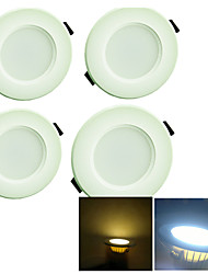 3W Lampes Encastrées 8 SMD 5730 200 lm Blanc Chaud / Blanc Froid Décorative AC 100-240 V 4 pièces