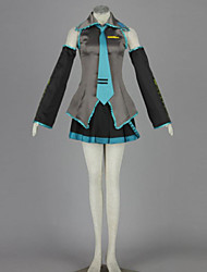 Inspired by Vocaloid Hatsune Miku Anime Cosplay Costumes Cosplay Suits Patchwork Blouse Skirt Sleeve Waist Accessory Stockings Tie For
