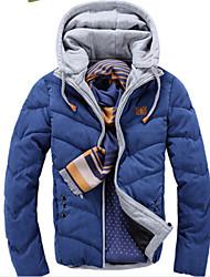 Men's Hoodie Coats & Jackets , Cotton Blend Long Sleeve Casual Pocket Winter mildness