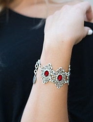 Women's Fashion Vintage Sexy Women Red Eye Gemstone Chain Bracelet