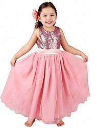 Flower Girl Princess Bow Dress Toddler Baby Wedding Party Tulle Dress 2-13 year