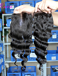 6A Malaysian virgin hair with closure middle 3 part lace closure with bundles 4pcs/lot malaysian loose wave with closure