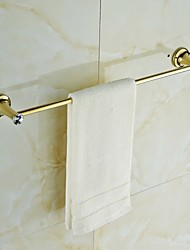 Contemporary Golden Crystal Brass Towel Bar