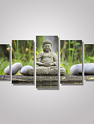 Пейзаж Люди Фото Modern,5 панелей Горизонтальная С картинкой Декор стены For Украшение дома