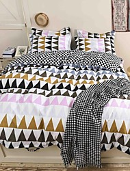 Mingjie® Lattice Style Queen and Twin Size Sanding Bedding Sets 4pcs for Boys and Girls Bed Linen China