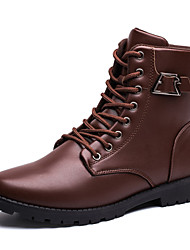 Men's Shoes Casual Leatherette Boots Black / Brown