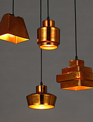 E27 15*13CM Line 1MAmerican Country Retro Glass Chandelier Rusty Sitting Room Dining-Room Droplight Led