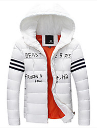 Men's Hoodie Coats & Jackets Plus Size, Cotton Long Sleeve Casual / Work Fashion Winter Wshgyy