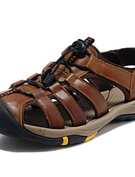 Men's Shoes Outdoor / Athletic / Casual Leather Sandals Brown